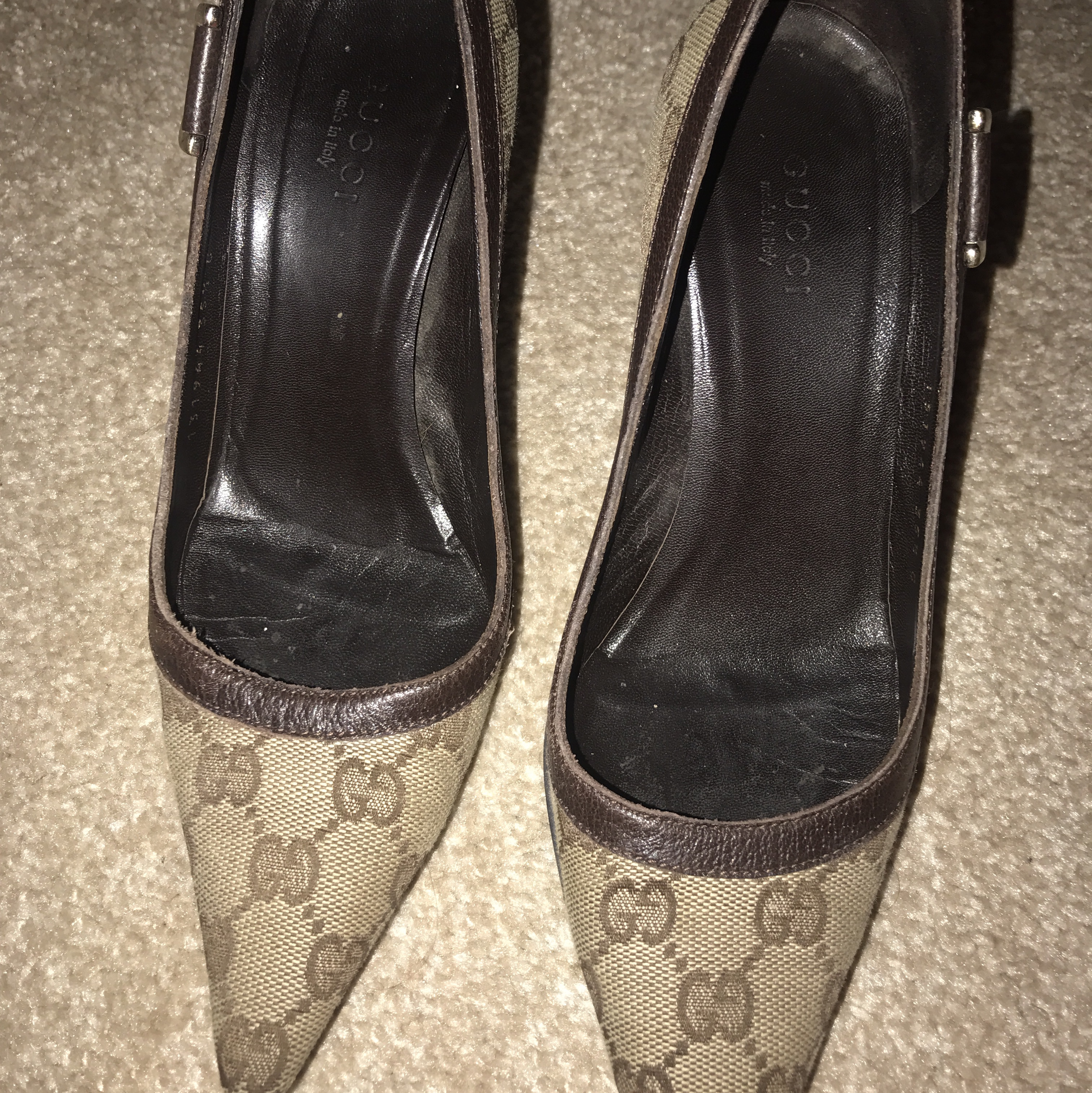 c848119ae81 Gucci heels 100% genuine. Will not accept liability after - Depop