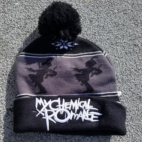 Like New My Chemical Romance Black Parade Beenie. Sz  One - Depop b74e7b907e0d