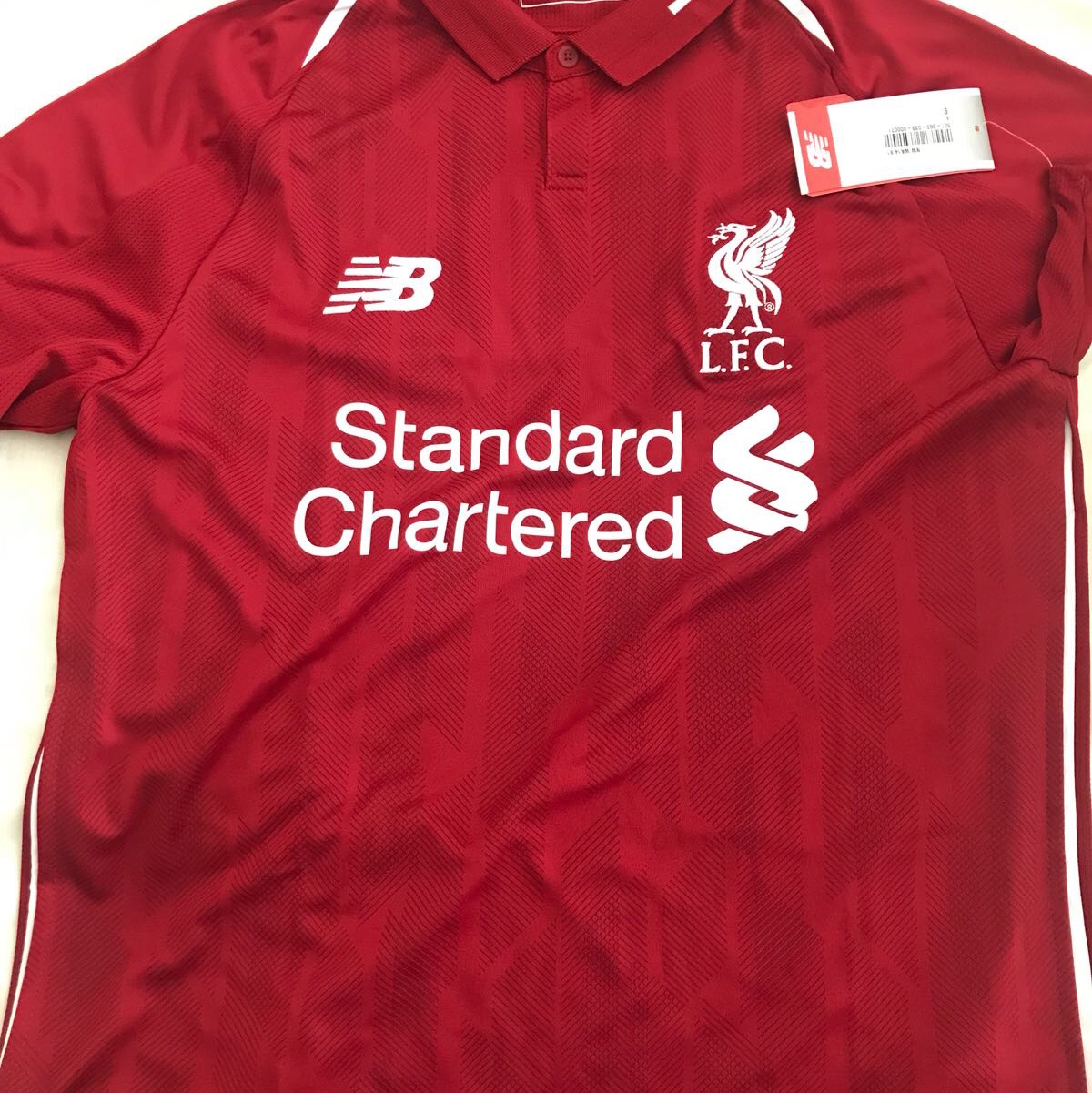 new style 061d1 9e419 New Balance Liverpool 18-19 Home Kit Red For Men... - Depop