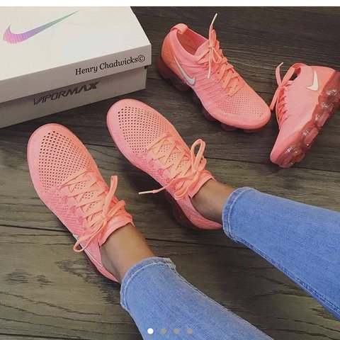 1f54eb2458e08 Looking for Nike Air VaporMax flyknit 2 in coral pink ( ) 6 - Depop