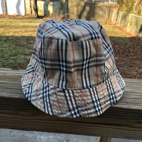 8ab467f8339 Reversible Black Plaid Bucket Hat could be real Burberry