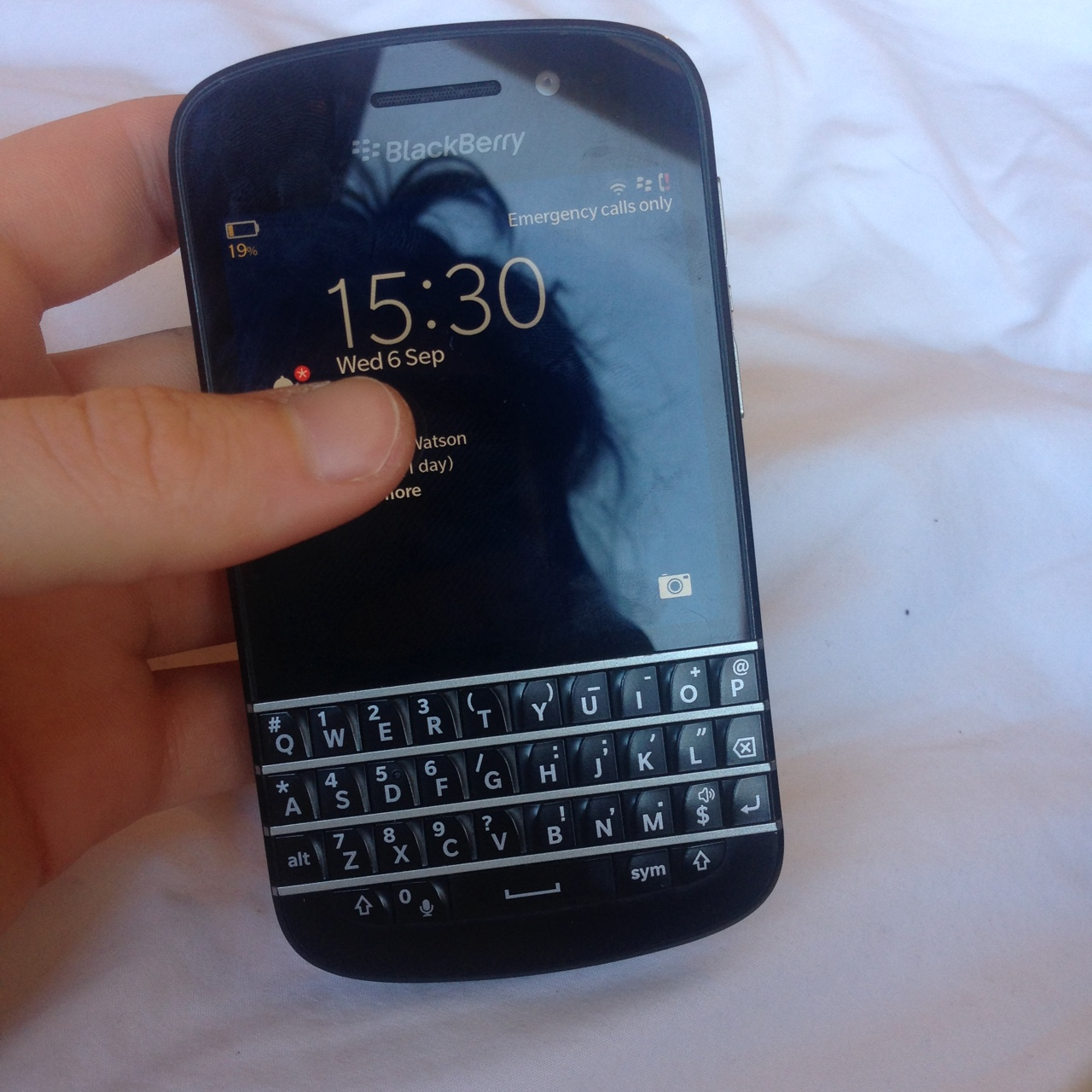 Blackberry Q10 phone with Vodafone - used a couple    - Depop