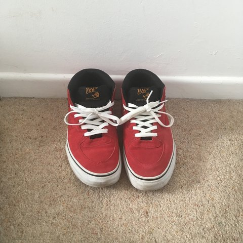 f7a54d4c3b86 Vans half cab pro in red and white. Worn only a handful of ! - Depop