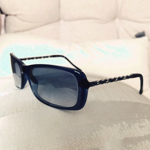 dec512f4c21e Chanel Chain Link Leather Frames These can be Sunglasses or - Depop