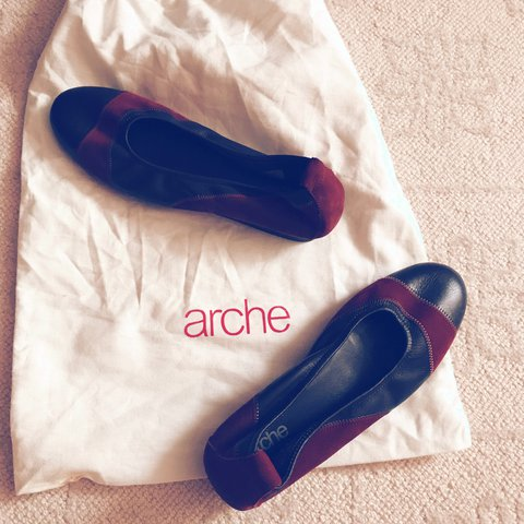920361d10f2a2b Arche made in France Nubuck Ballet Flats in purple and 38 - - Depop