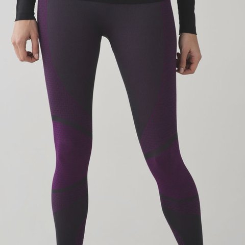 822e6a7f90f598 @keep613. last year. New York, United States. Lululemon Violet and Gray  Tights Leggings Base Size 2 ...