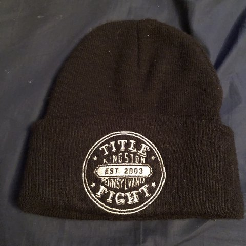 Rare title fight beanie from back in the day. Tags  Out 47555b61294