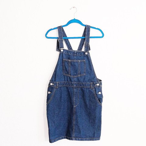 0e30d944ab 🦋 Denim overall mini dress 🦋 side pockets