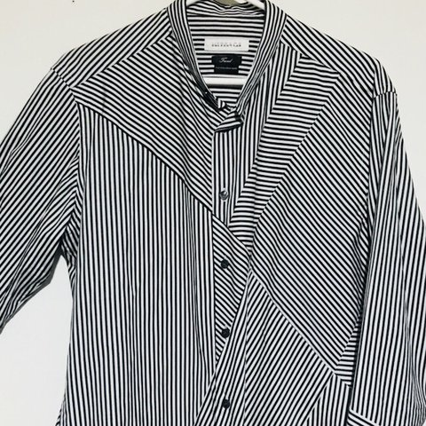 530d73bb66 Versace Collection Striped Dressy Longsleeve Shirt Size  No - Depop
