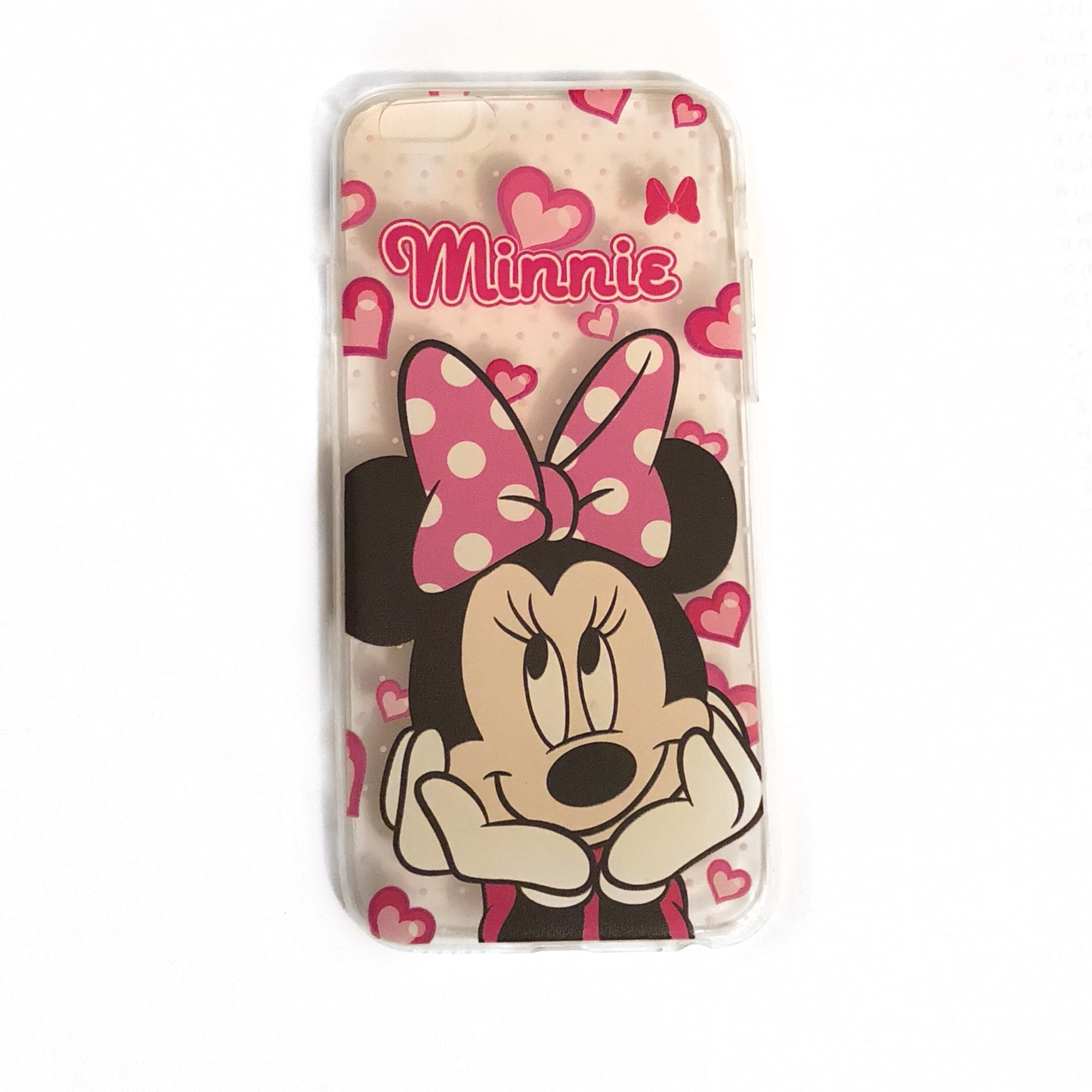 purchase cheap 06ef0 92be6 Minnie Mouse IPhone 6/6s phone case 💕 Clear case... - Depop