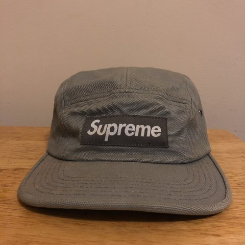 fb0baa26aaf Supreme camp cap Grey - one size fits all used. Ok Some the - Depop