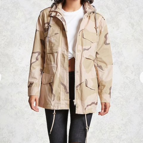b99c57d0ca36e @trvpcloset. last year. Oakland, United States. camo print utility jacket  forever 21 brand new with tags size M