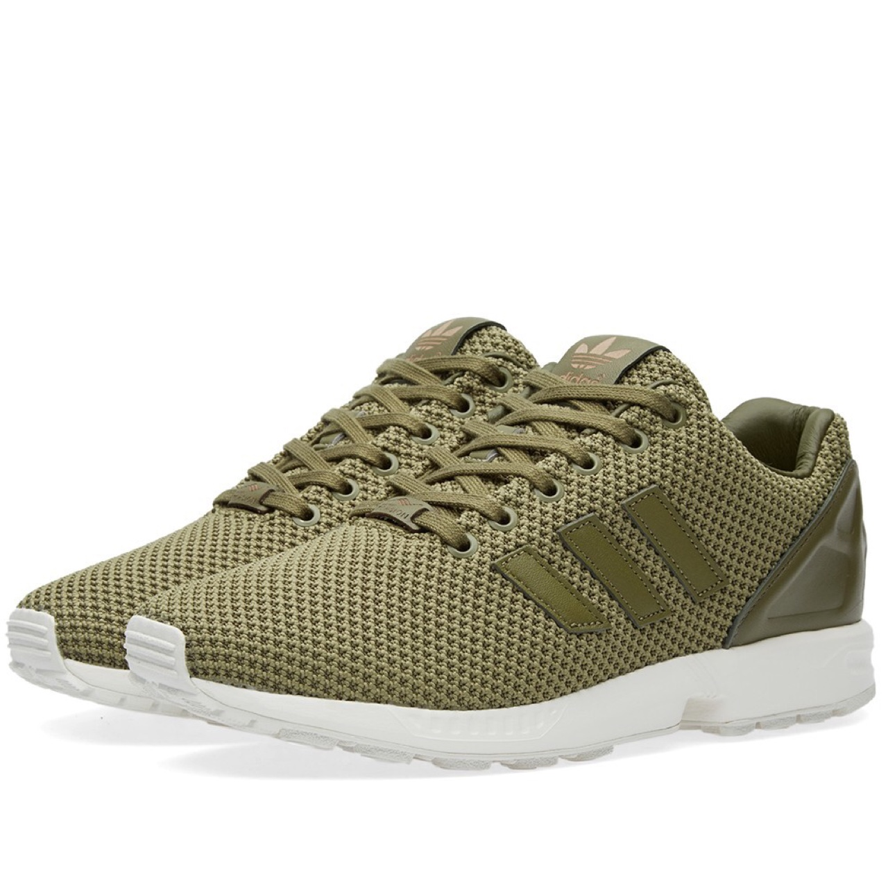 huge selection of d5d18 a0f16 Olive green adidas ZX flux. Only been worn about 2-3... - Depop