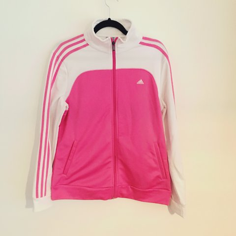 86cf180e09a @victoriajoanne. last year. Belper, United Kingdom. Adidas jacket , ladies  pink and white ...