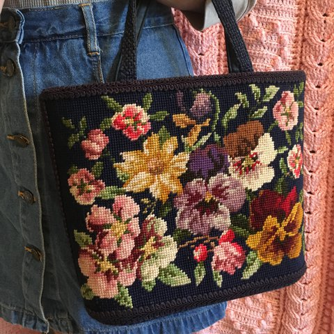 Antique Needlepoint By Owner Antiques Price Reduced