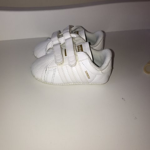 71374a9d Adidas superstar infant trainers. Size 2. Worn once and like - Depop