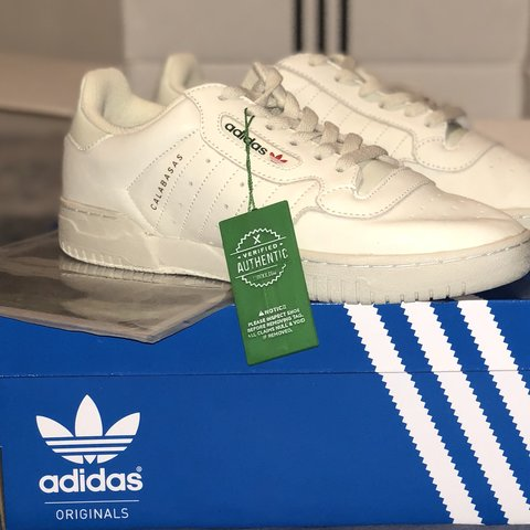 6732e359a Adidas Yeezy Powerphase Calabasas  OG  core white Never in - Depop