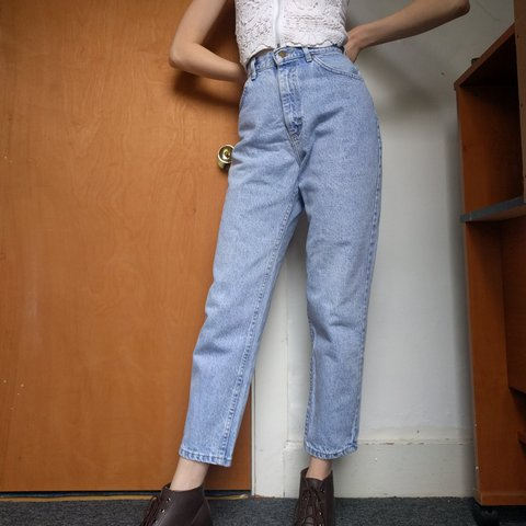 589a2888 @anagrai. 2 years ago. Binghamton, Broome County, United States. Vintage  90s light wash Lee high waisted mom jeans.