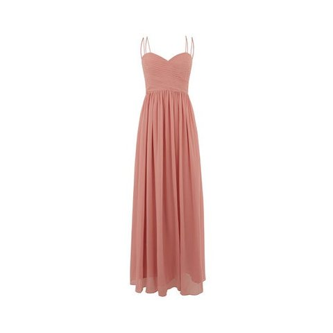 5d9ad660dd08 Oasis Lucy Chiffon Maxi Dress. Worn once as a bridesmaid and - Depop