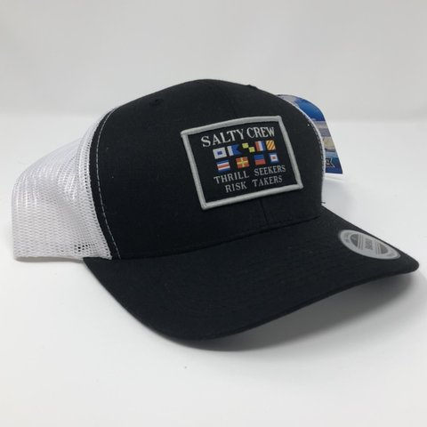 3fe61a1558830 Salty Crew Nautical Flags Patch Trucker Hat Brand new with - Depop