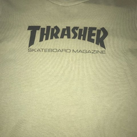 56163b66887f @angiee_g. 11 months ago. Duluth, United States. Olive Green Thrasher Shirt  - Great condition! No rips ...