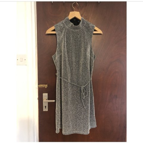 9bdf3a30 COMPLETELY UNUSED* A&G straight cut high neck sparkly dress - Depop