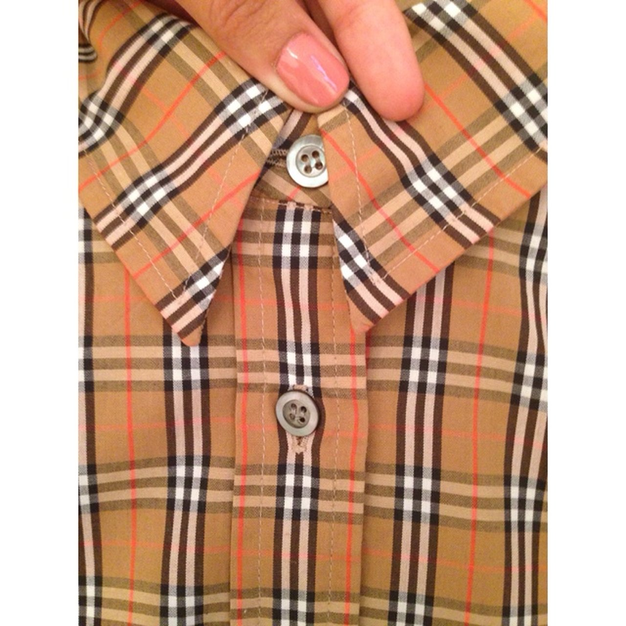 Authentic vintage Burberry shirt  womens uk size 10. Fits I - Depop dfc7b22a55