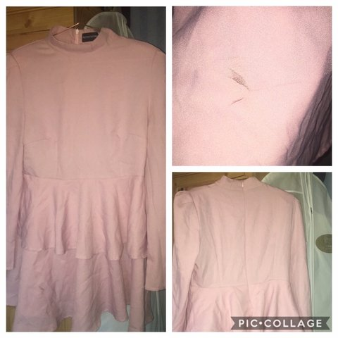 a8651019a9513 Pretty little thing dusty pink high neck tiered skater It s - Depop