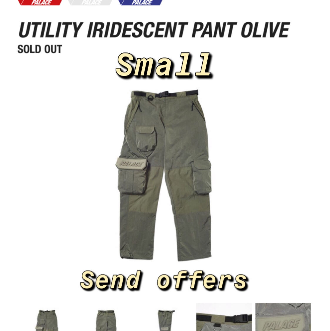 8b414ba2 *SOLD*SOLD*SOLD* Palace SS19 Utility iridescent cargo pant - 0