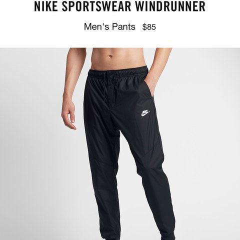 a4881886430284 MEN NIKE WINDRUNNER PANTS  ONLY WORN ONCE  -Fits high on in - Depop