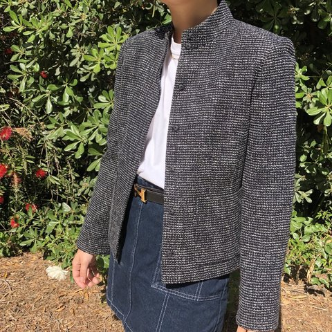 ba1bcf8ba94 Collection Fifty Nine tweed blazer. Vintage and in perfect 4 - Depop