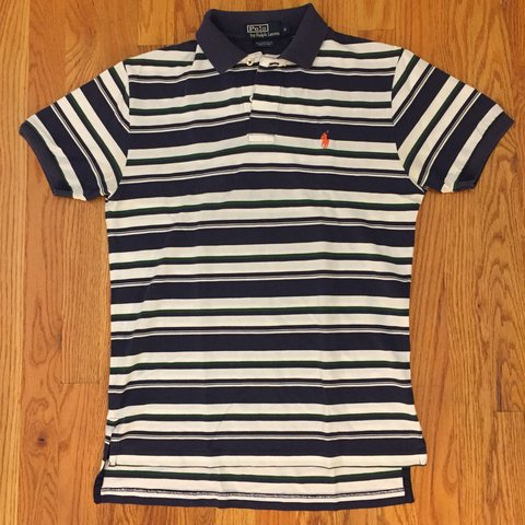 5059d592 @dt. 2 months ago. Poughquag, United States. Polo ralph lauren vintage 90s  navy white and green striped shirt ...