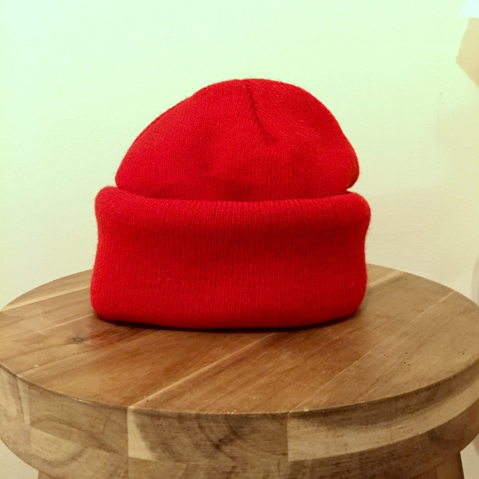 8e11388a1 Plain red fisherman beanie. In the style of The... - Depop