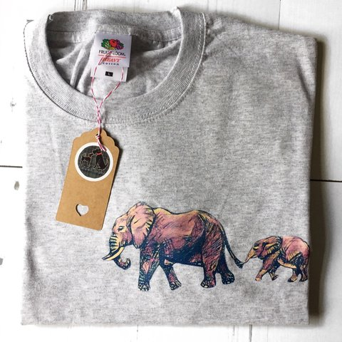 79950c1d4 Pink elephant tshirt, cute elephant family tee, gifts for is - Depop