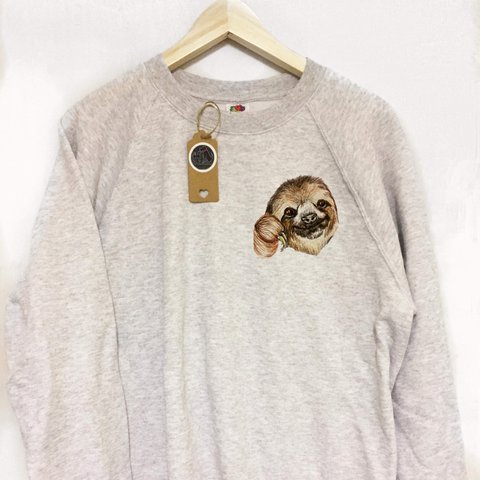 Cute sloth jumper, sloth gifts- 0
