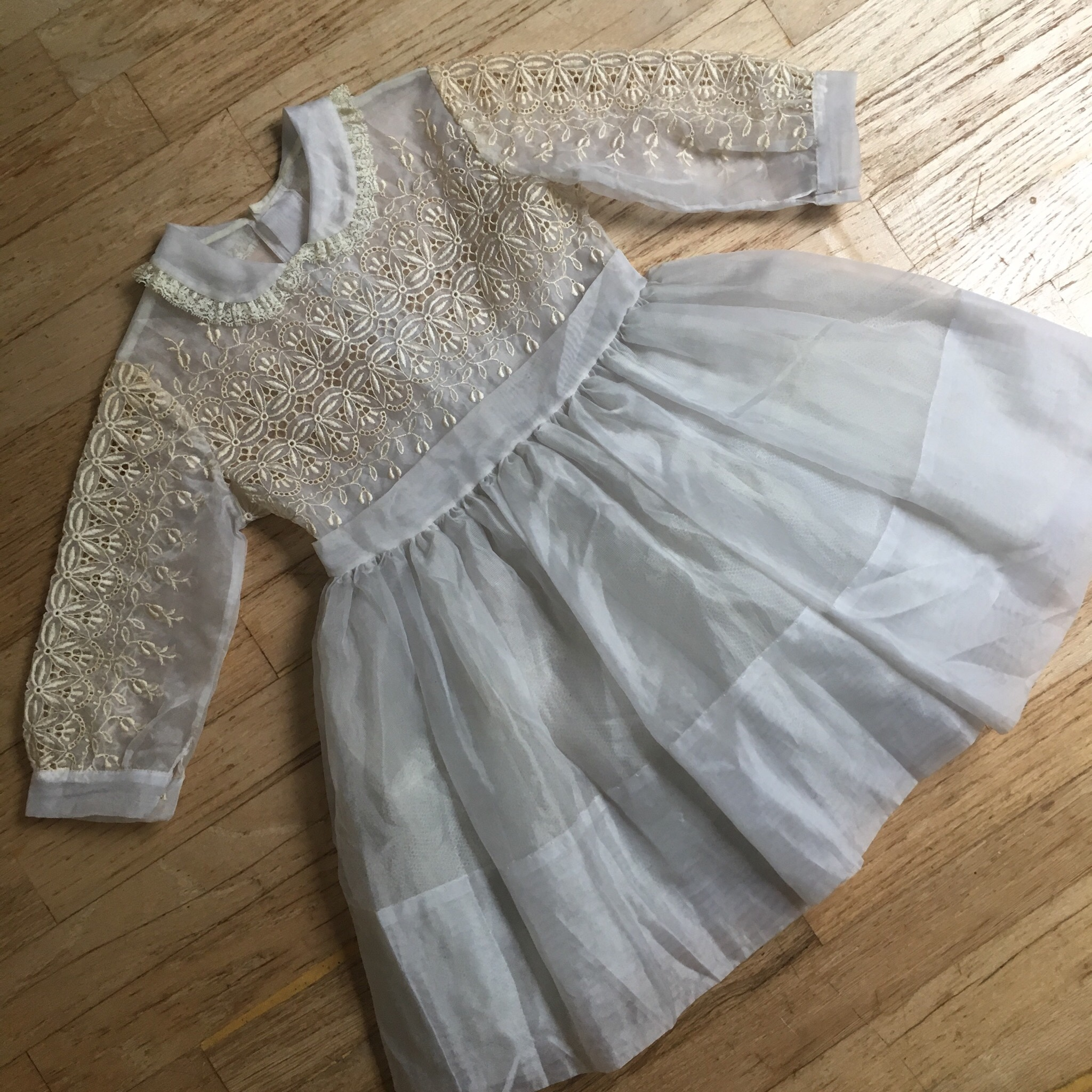 fresh styles reasonable price differently 50s 60s Vintage Sheer Lace Young Girls Dress No... - Depop