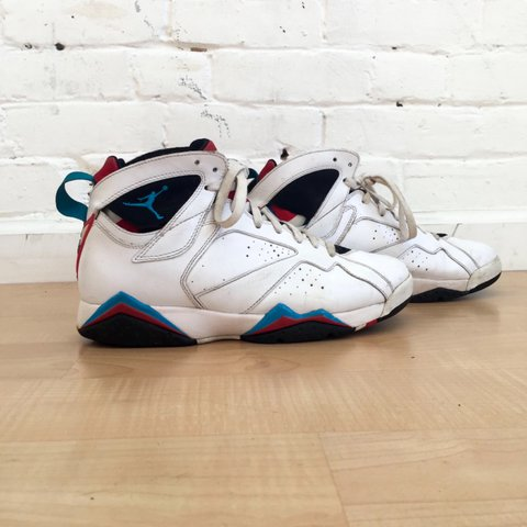 best service 548c5 adca5 ... ireland air jordan vii retro orion blue. jordans 7 streetwear depop  2e37f cd929