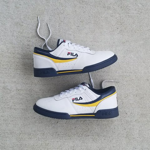 a6f2f6b505c4 FILA Original Fitness WHITE  BLUE  YELLOW  RED This Men s - Depop