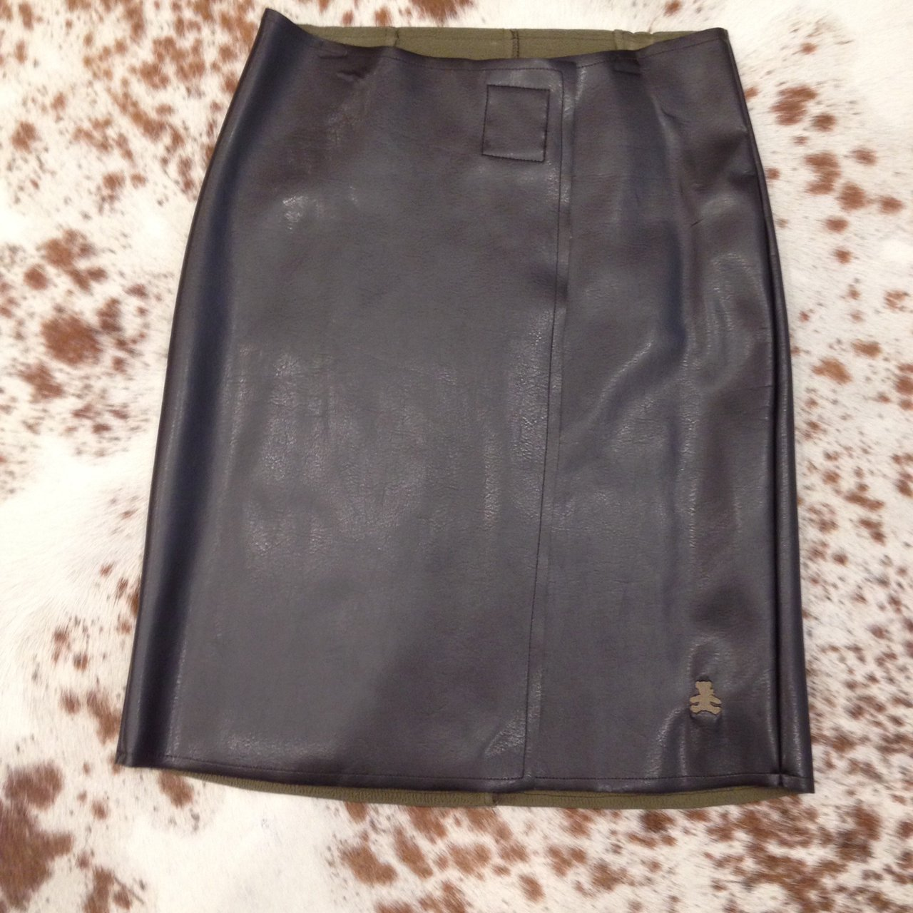 f1ed702edf LULU CASTAGNETTE Faux leather skirt. Bought from a small 2, - Depop
