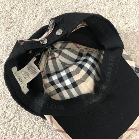 256ee6118a4 Burberry London cap hat One size 100% genuine Great - Depop