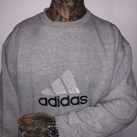 7e55eacf @chrispowell31. last month. Grimsby, United Kingdom. Vintage Adidas spell  out sweater jumper sweatshirt