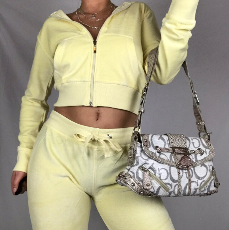 Incredible Pale Yellow Velour Juicy Couture Style Depop