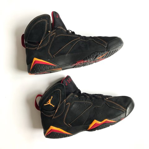 521f098f568 @hypepharmacy. 2 years ago. London, UK. AIR JORDAN 7 (VII) RETRO – BLACK /  CITRUS – VARSITY RED ...