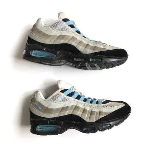 1931275233a3 ... sweden nike air max 95 grey black and baby blue great soles depop 4bd20  bfcc7