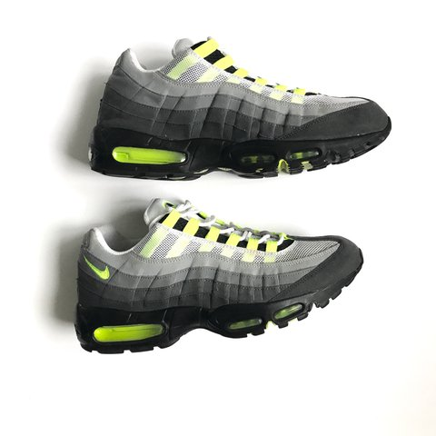 2c28634461 @hypepharmacy. 2 years ago. London, UK. OG 2012 Nike air max 95 grey and volt  green ...