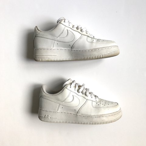 efe27617a @hypepharmacy. 2 years ago. London, UK. Nike white leather Air Force ones  low | great condition | light signs of wear | size uk 5.5 ...