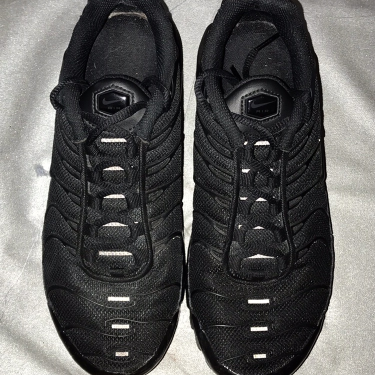 new products d7a07 e12c4 Nike Air Max Plus (tn) all black with reflective... - Depop