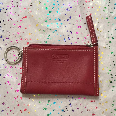 00c9886ae brooketuttle Vintage Coach Leather Card Wallet ❤ excellent - Depop