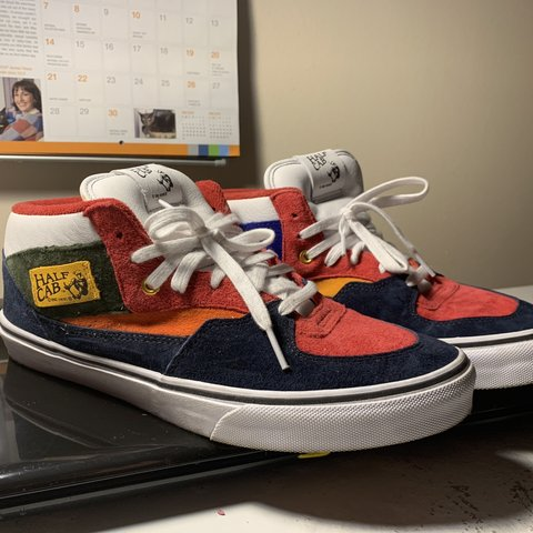 01b33ef72c ~This the Vans YOM (Year of the Monkey) Half Cab ~Its wore - Depop