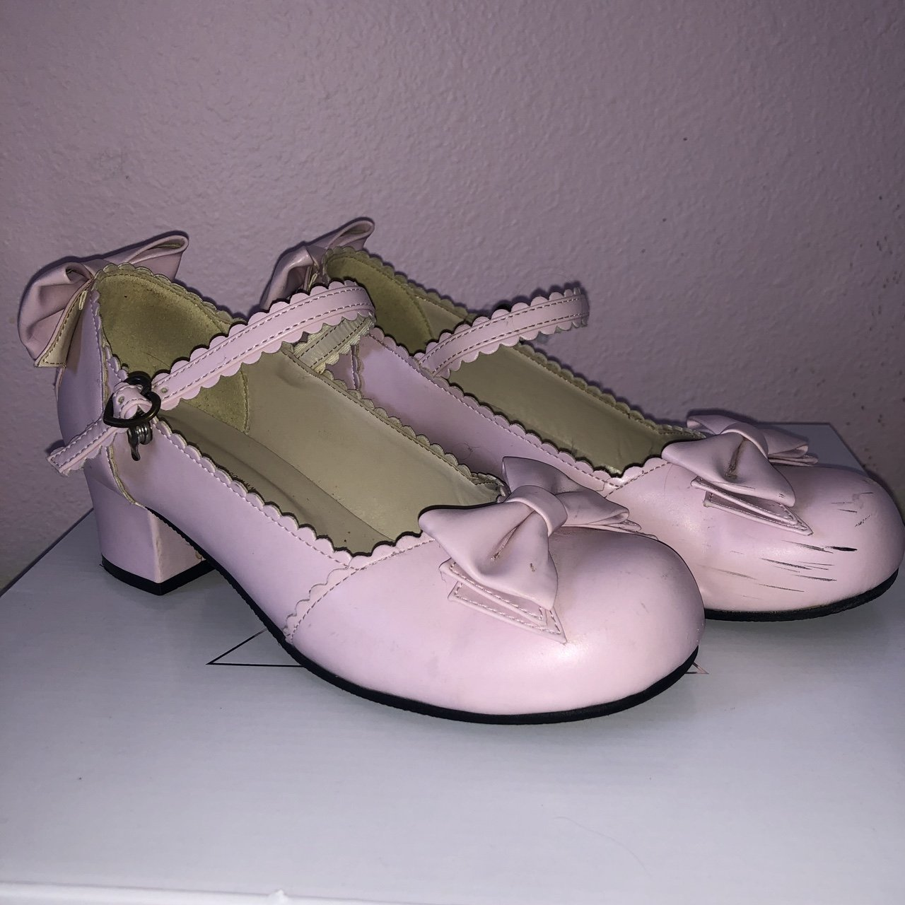 ba4334273189 Dolly Lolita jelly shoes size.  15. Light Blue Chunky Heel Platform.  25.  Body line tea party shoes